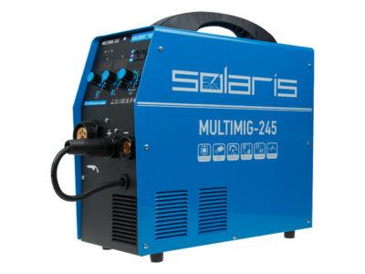 Полуавтомат сварочный Solaris MULTIMIG-245 (MIG/MMA/TIG) (220В, евроразъем, горелка 3 м, смена полярности, 2T/4T, рег-ка индуктивн.) (MULTIMIG-245)