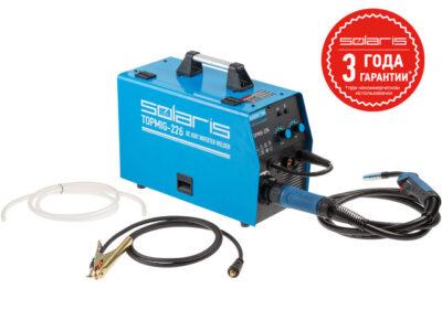 Полуавтомат сварочный Solaris TOPMIG-226 (MIG/MAG/FLUX) с горелкой 3м (220В, евроразъем, горелка 3 м, смена полярности) (TOPMIG-226WG3)