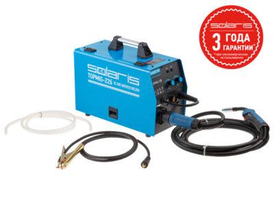 Полуавтомат сварочный Solaris TOPMIG-226 (MIG/MAG/FLUX) с горелкой 5м (220В, евроразъем, горелка 5 м, смена полярности) (TOPMIG-226WG5)
