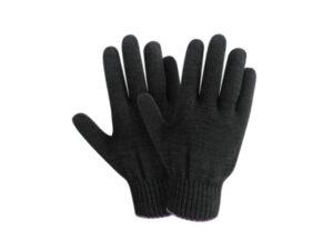 Перчатки х/б трикотажные, 10класс, черные, РБ