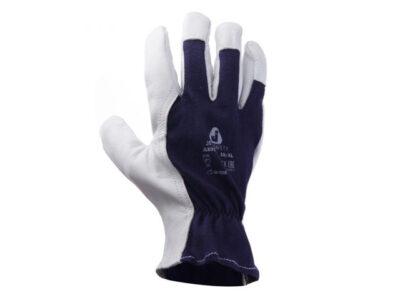 Перчатки комбинированные кожанные, цельная ладонь р-р 9/L, JetaSafety