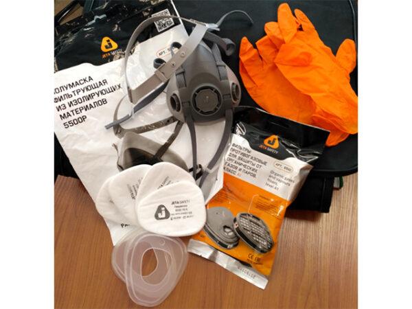 Полумаска 5500Р с фильтрами 5510 А1 с предфильтрами и с держателями Jeta Safety