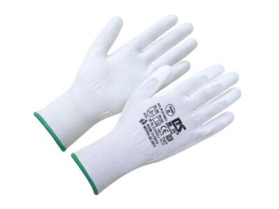 Перчатки нейлон, полиуретан. неполн. покрытие, белые