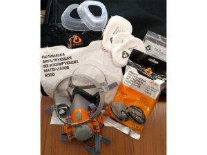 Полумаска 6500Р с фильтрами 5510 А1 с предфильтрами и с держателями Jeta Safety