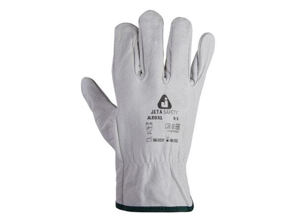 Перчатки кожанные цельные р-р 10/xL, JetaSafety