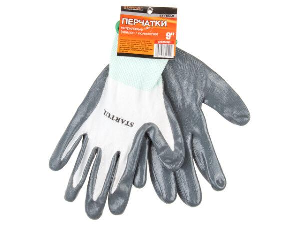 Перчатки нейлон, нитриловое покрытие, 9 р-р STARTUL