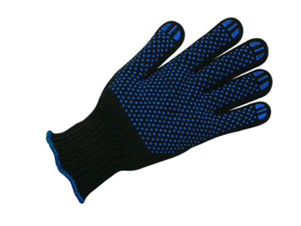 Перчатки п/шерстяные с ПВХ Спец, 7 класс, черные