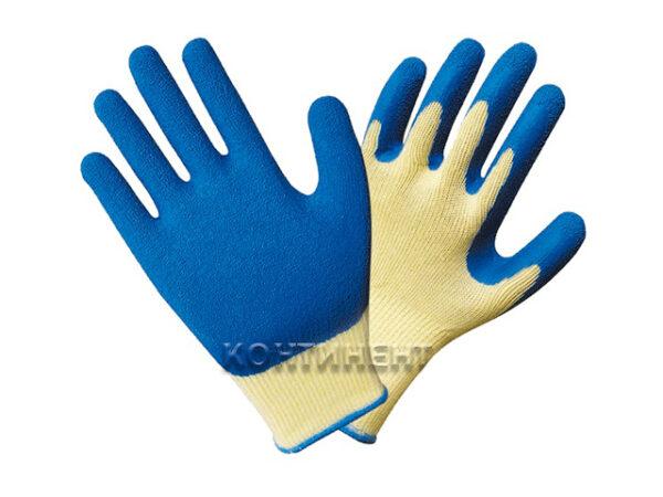 Перчатки х/б, латексное покрытие, 10кл