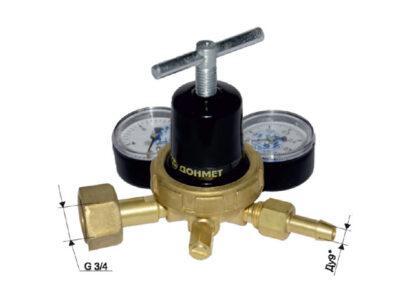 Редуктор углекислотный УР-6ДМ мини (давл. 10/0,6МПа; 1,05м3ч; ф9/6мм)