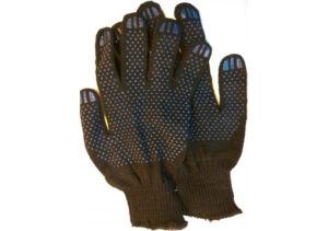 Перчатки х/б с ПВХ Точка, 10класс, черные