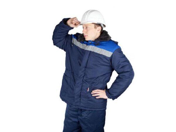 Куртка утепленная с капюшоном БРИГАДИР р.60-62 рост 170-176, РФ