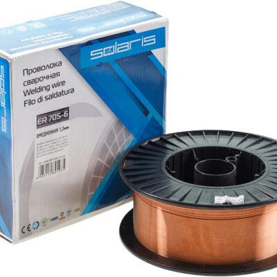 Сварочная проволока SOLARIS омедненная ER 70S-6 ф1,2мм (катушка D300 15 кг)