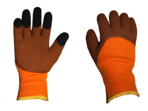 Перчатки утепленные акриловые, латекс