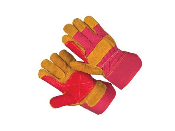 Перчатки спилковые комбинированные утеплнные на флисе  Докер люкс