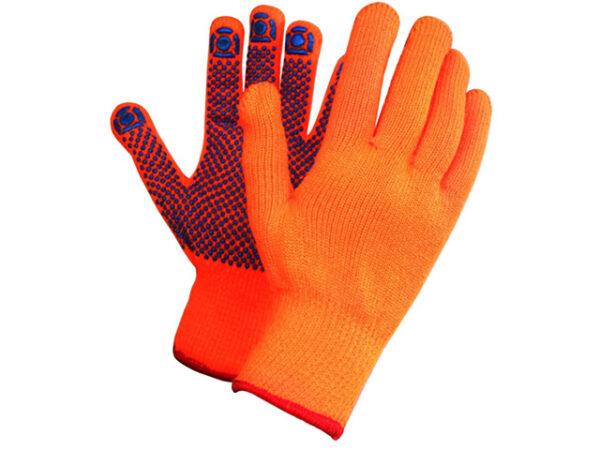 Перчатки утепленные акриловые с ПВХ точкой