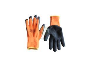 Перчатки утепленные акриловые латексное покрытие