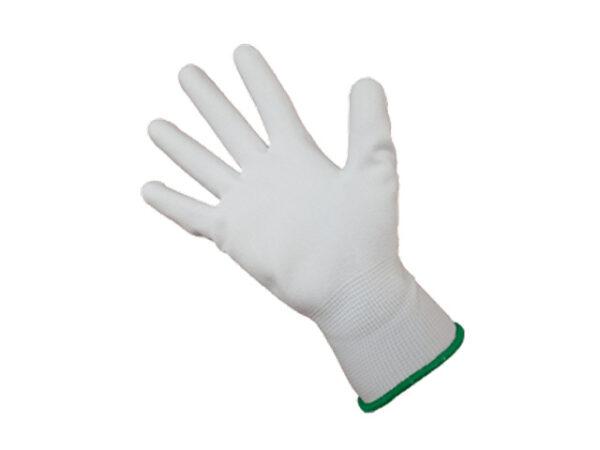 Перчатки нейлон, полиуретан. 13кл, размер 10, белые