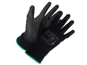 Перчатки нейлон, полиуретан. 13кл, размер 7, черные