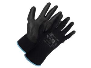 Перчатки нейлон, полиуретан. 13кл, размер 8, черные