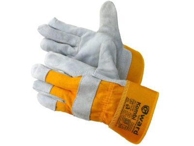 Перчатки спилковые комбинированные на флис. подкладке Kombi