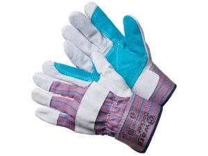 Перчатки спилковые комбинированные на флис. подкладке усилен. ладонь