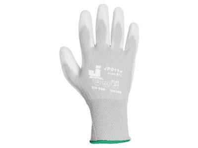 Перчатки нейлон, полиуретановое неполн. покрытие, р.L, белые, Jeta Safety