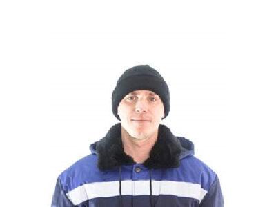 Подшлемник-шапка вязаная двойная черная