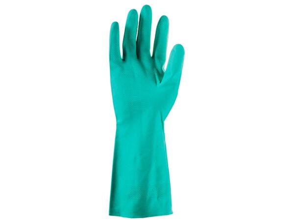 Перчатки нитриловые защитные промышленные, р-р 9/L, зеленые, JetaSafety
