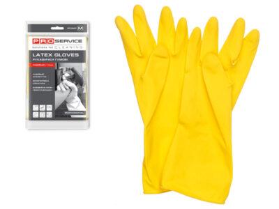 Перчатки латексные хозяйственные Professional, с хлопк. напылением, размер М, PROservice