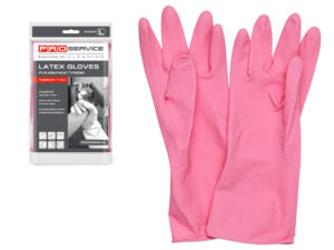 Перчатки латексные хозяйственные Professional, с хлопк. напылением, размер L, PROservice