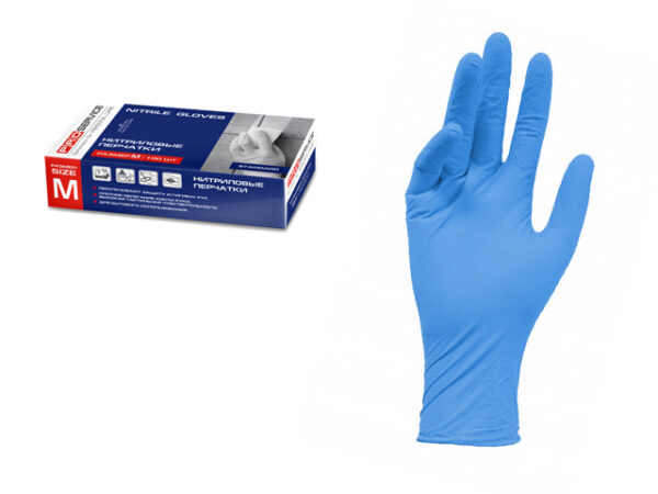 Перчатки нитриловые Standard, 100 шт., размер M, PROservice